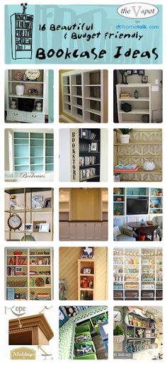 16 Beautiful & Budget Friendly Bookcase Ideas | {curated by 'The V Spot' blog!}
