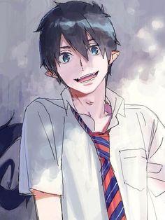 Ao no exorcist- rin anime/manga/art bóg Rin Okumura, Rin And Shiemi, Ao No Exorcist, Blue Exorcist Anime, Fanarts Anime, Anime Characters, Manga Anime, Anime Art, Anime Angel