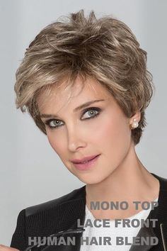 Petite/Average Impulse by Ellen Wille Wigs - Hand Tied, Lace Front, Monofilament Top Wig Girls Short Haircuts, Short Haircut Styles, Short Hairstyles For Women, Bob Hairstyles, Pretty Hairstyles, Perfect Hairstyle, Pixie Haircuts, Beach Hairstyles, Short Grey Hair