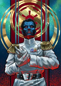 The Grand Admiral by Feivelyn on DeviantArt Star Wars Sith, Star Wars Droids, Star Wars Rpg, Star Wars Fan Art, Images Star Wars, Star Wars Pictures, Grand Admiral Thrawn, War Novels, Sr1
