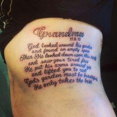 Grandmas memorial tattoo :)