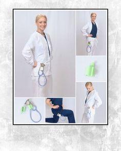 The Nurse Born Stethoscope Holder in White by NurseBorn on Etsy