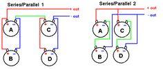 Series & Parallel Wiring 4 Speakers circuits