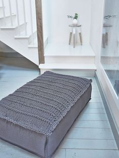 Anthracite pouf - Nordic House