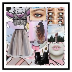 """""""Untitled #106"""" by beautifullyweirdd ❤ liked on Polyvore featuring beauty, Chicwish, Anine Bing, Dr. Martens and Miss Selfridge"""
