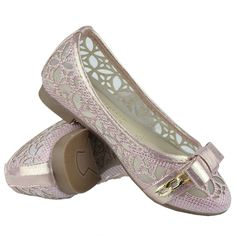 Girls Ballet Flats Lace Mesh Bow and Chain Casual Slip On Shoes Pink Girls Ballet Flats, Mesh Bows, Casual Slip On Shoes, Kid Shoes, Salvatore Ferragamo, Chain, Lace, Pink, Fashion