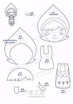 muñecas para hacer con fieltro patrones02