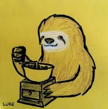 Image result for sloth coffee