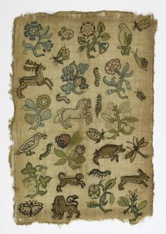 Sampler (England), 17th century