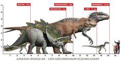 Jurassic World Dinosaur Size Chart: T-Rex vs. Indominus Rex vs. Velociraptor - Jurassic World Gallery