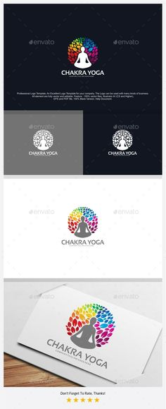 Chakra Yoga Logo — Photoshop PSD #natural #flower • Available here → https://graphicriver.net/item/chakra-yoga-logo/18376324?ref=pxcr