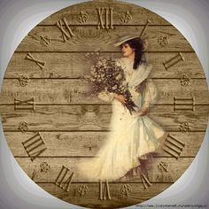 Decoupage Vintage, Shabby Vintage, Clock Face Printable, Retro Alarm Clock, Domino Jewelry, Handmade Clocks, Wood Pallet Art, Decoupage Printables, Victorian Wallpaper
