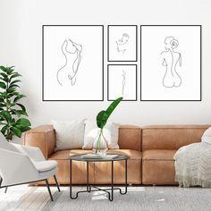 Femme Figure Line Print – Nomadic Fabrics Living Room Designs, Living Room Decor, Living Spaces, Bedroom Decor, Wall Decor, Living Room Artwork, Living Room Canvas Art, Wall Art, Cotton Bedding Sets
