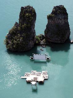cinema flutuante na Tailândia