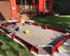 SoccerPool Game Tables by SoccerPoolMiami on Etsy Diy Yard Games, Diy Games, Backyard Games, Backyard Projects, Outdoor Games, Outdoor Fun, Outdoor Activities, Diy Pool Table, Life Size Games