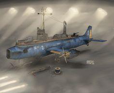 Anti Ship Torpedo boat Catena by on DeviantArt Concept Ships, Concept Art, Steampunk Ship, Flying Ship, Tecno, Pulp, Futuristic Art, Alternate History, Science Fiction Art