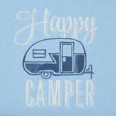 Women's Happy Camper Crusher Vee