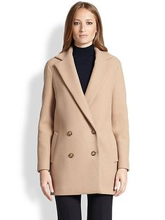 Theory Café Nest Double-Breasted Coat 645--->387