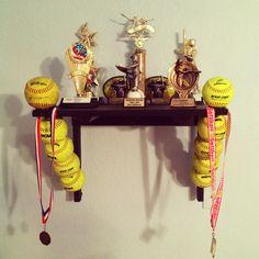 Softball Trophy Shelf!!!!
