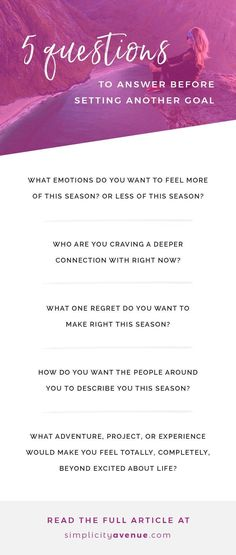 Don't just set goals. - Simplicity Avenue 5 self reflection questions to help you set meaningful goals and create change in your life that matters. It all starts with a blank page (and your heart). Self reflection questions Journal Prompts, Writing Prompts, Writing Tips, Work Journal, Journal Questions, Life Questions, Reflection Questions, Self Development, Personal Development