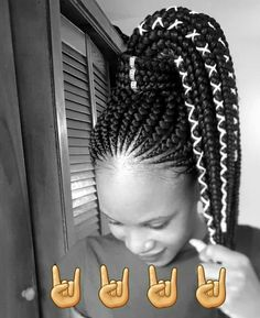 Learn about how to braids on yourself # Braids africaines enfants # Braids afro vanille Braided Cornrow Hairstyles, Ghana Braids Hairstyles, Cornrow Ponytail, Braids Hairstyles Pictures, African Hairstyles, Black Girl Braids, Braids For Black Hair, Girls Braids, Pelo Rasta
