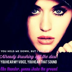 "Katy Perry ""Roar"" in love with this song <3"