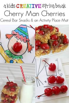 Spring Break Snacks With Cherry Man Cherries Creative Kids Crafts For