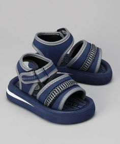 Take a look at this Navy & Silver Sandal by Sweet on #zulily today!