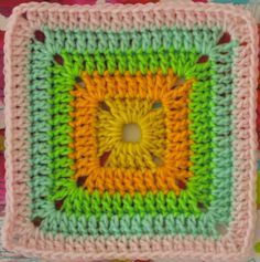 FREE Motif Monday: Solid Crocheted Square pattern