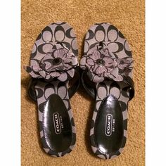 Coach flower sandals Worn once- in excellent condition! Coach Shoes Sandals