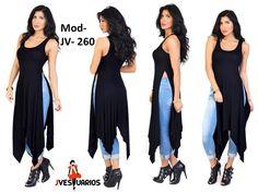 Vestidos Casuales Para Damas - Blusones Largos - Sobretodos - Bs. 6.900,00 en MercadoLibre