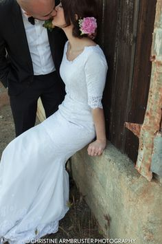 Long sleeve wedding gown lace wedding dress taylee style custom