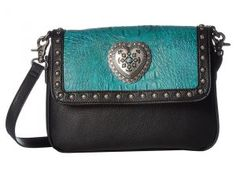 M&F Western Ginger Crossbody (Turquoise/Black) Cross Body Handbags