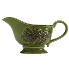 Pour on the charm with this inviting BonJour Dinnerware Sierra Pine Stoneware Gravy Boat. Crafted from durable stoneware and glazed in color inspired by nature, the handsome 20-ounce gravy boat featur