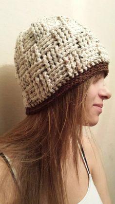 Crocheted Basketweave Beanie