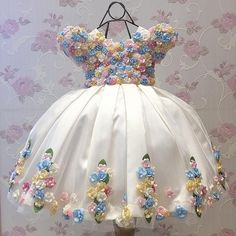 Little Bride Ivory Junior Bridesmaid Flower Girl Dress Kids Beauty Holy Communion Pageant Ball Gowns Prom Dresses Gown For Girls Baby Girl Party Dresses, Little Girl Dresses, Wedding Party Dresses, Baby Dress, Flower Girl Dresses, Prom Dresses, Cute Baby Clothes, Doll Clothes, Little Girl Fashion