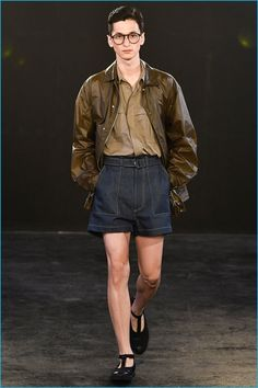 E. Tautz goes leggy for spring-summer 2017, bringing up the inseam of its shorts.