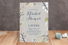 Spring Shower Foil-Pressed Bridal Shower Invitations by Carolyn MacLaren at minted.com