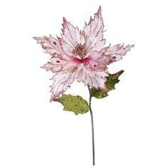 """26"""" Christmas Velvet Poinsettia Pink 3 ct : Target"""