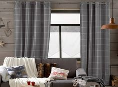 Rideaux carreaux 3suisses Cosy Winter, Burnley, Decoration, Curtains, Blanket, Living Room, Website, Business, Check