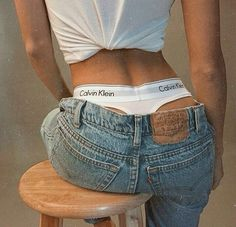 calvin klein underwear and denim Calvin Klein Tanga, Calvin Klein Femmes, Calvin Klein Underwear, Calvin Klein Women, Calvin Klein Jeans, Calvin Klein Outfits, Ck Jeans, Mode Jeans, Sexy Jeans