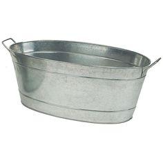 oval steel tub