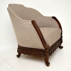 edwardian mahogany upholstered armchair antiques atlas indian