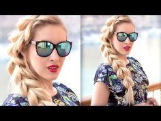 False french Elsa braid: split hairstyle ❤ Easy, cute summer short/medium/long hair tutorial - YouTube
