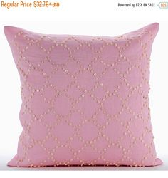 15% HOLIDAY SALE Designer  Pink Decorative by TheHomeCentric