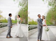 Dana & Bart's low key, intimate & budget friendly Washington DC wedding at Logan Tavern | Images: Vness Photography