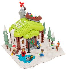 Winter Village: Winter Cottage Christmas day came and happy kids run out of their cottage to play. They built a fort and throw snowballs at each othe...