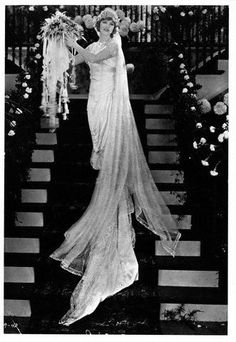Mary Pickford in a wedding dress, ca. 1925.
