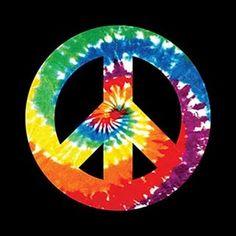 #70s #tie dye  -  Peace sign.