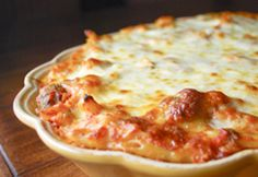 Baked Ziti with Mini Meatballs from Giada. Yes, of course it's ahhhmazing!  #Casserole #Dinner #Pasta